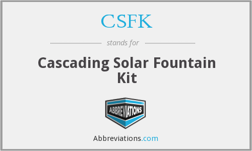 What does CSFK stand for?