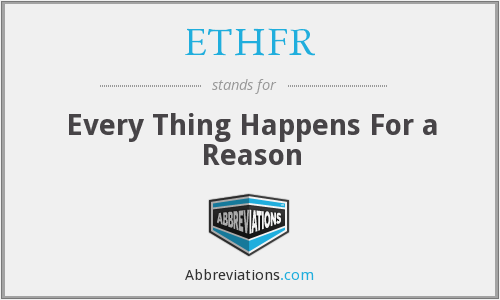 What does ETHFR stand for?
