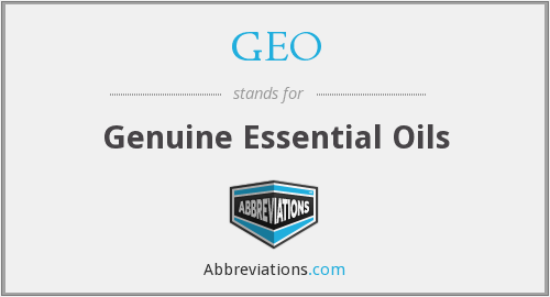 GEO - Genuine Essential Oils