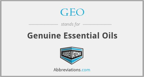 GEO - Genuine Essential Oils