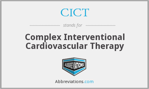 CICT - Complex Interventional Cardiovascular Therapy