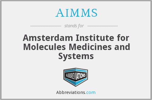 AIMMS - Amsterdam Institute for Molecules Medicines and Systems