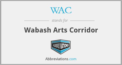 WAC - Wabash Arts Corridor