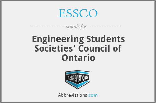 ESSCO - Engineering Students Societies' Council of Ontario