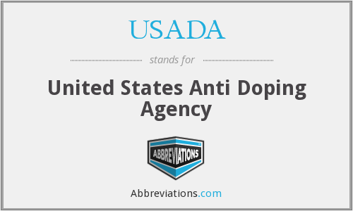 What does USADA stand for?