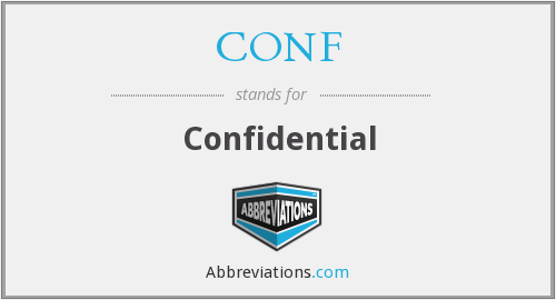 What is the abbreviation for confidential?