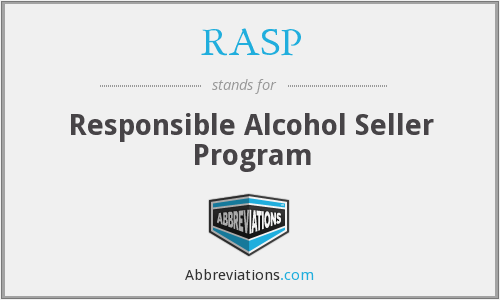 RASP - Responsible Alcohol Seller Program