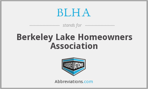 What does BLHA stand for?