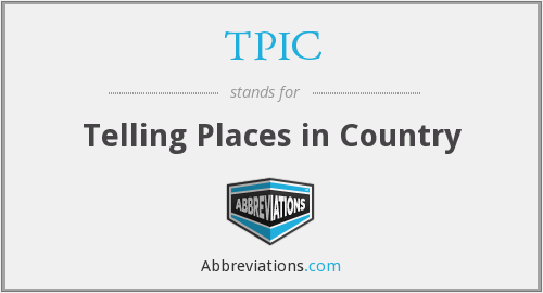 TPIC - Telling Places in Country