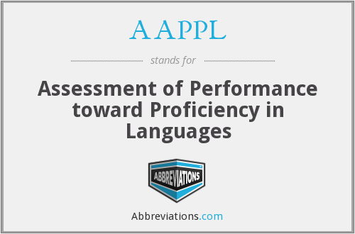 What does AAPPL stand for?