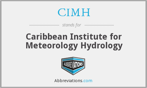 CIMH - Caribbean Institute for Meteorology Hydrology
