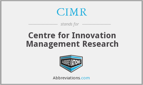 CIMR - Centre for Innovation Management Research