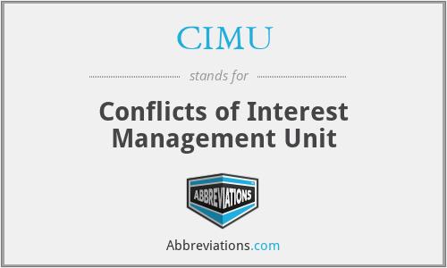 CIMU - Conflicts of Interest Management Unit