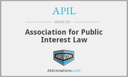 APIL - Association for Public Interest Law