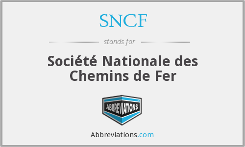 What does SNCF stand for?