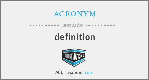 acronym - definition