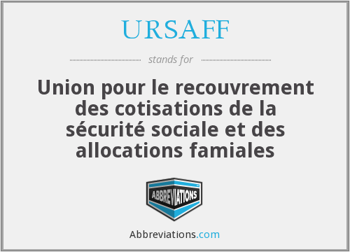 What does URSAFF stand for?