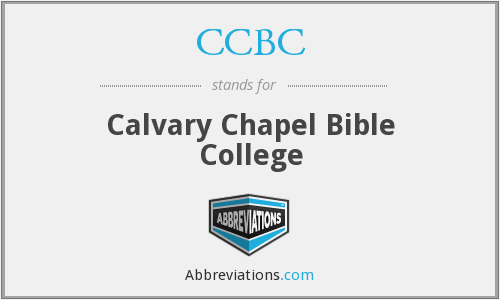 What does CCBC stand for?