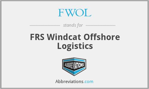 FWOL - FRS Windcat Offshore Logistics