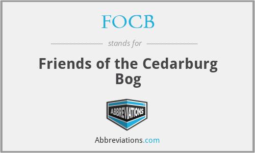 FOCB - Friends of the Cedarburg Bog