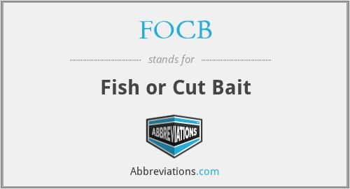 FOCB - Fish or Cut Bait