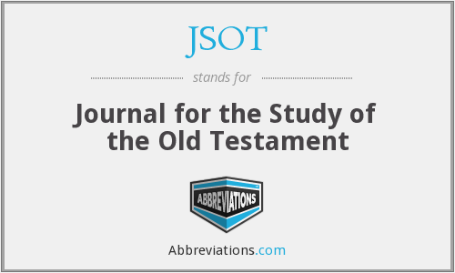 What does JSOT stand for?