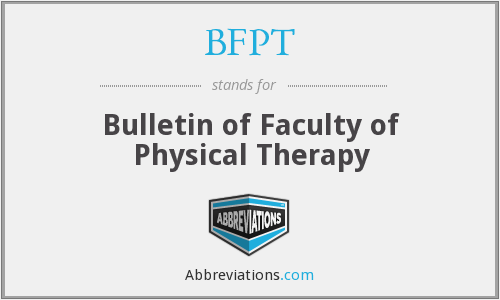 What does BFPT stand for?
