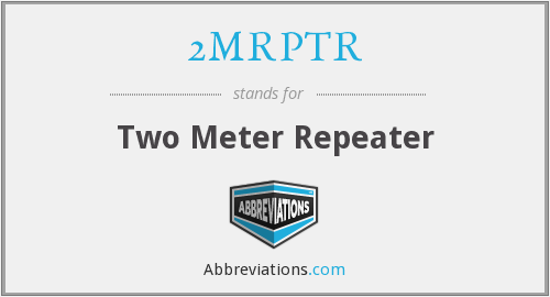 What does 2MRPTR stand for?