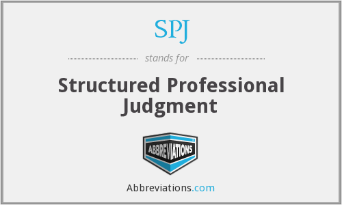 SPJ - Structured Professional Judgment