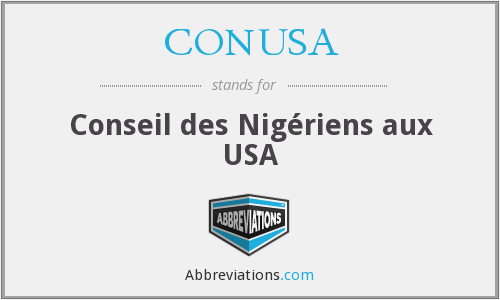CONUSA - Conseil des Nigériens aux USA