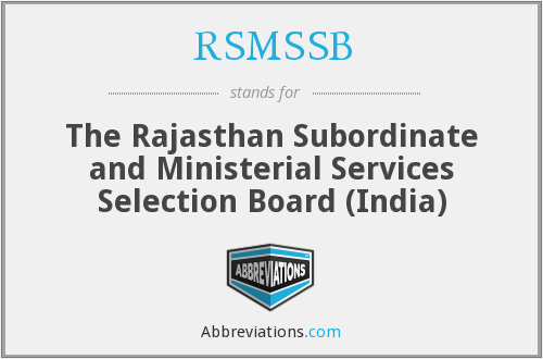 What does RSMSSB stand for?