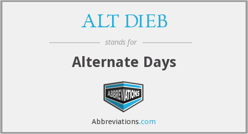 What does ALT DIEB stand for?