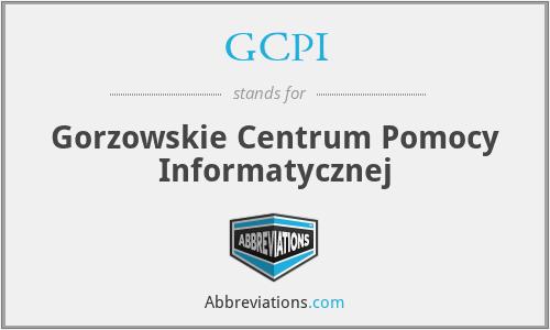 GCPI - Gorzowskie Centrum Pomocy Informatycznej