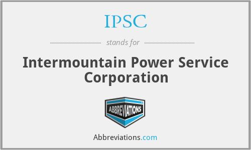 IPSC - Intermountain Power Service Corporation