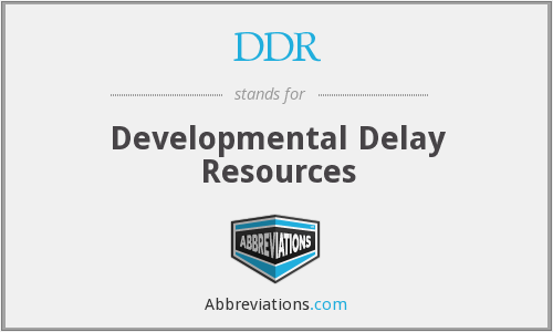DDR - Developmental Delay Resources