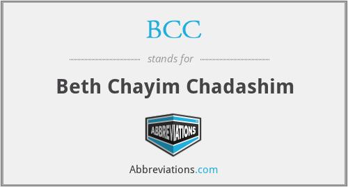 BCC - Beth Chayim Chadashim