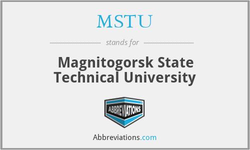 MSTU - Magnitogorsk State Technical University