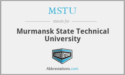 MSTU - Murmansk State Technical University