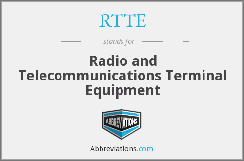 RTTE - Radio and Telecommunications Terminal Equipment