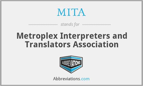 MITA - Metroplex Interpreters and Translators Association