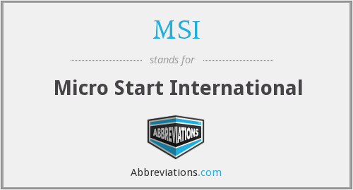 MSI - Micro Start International