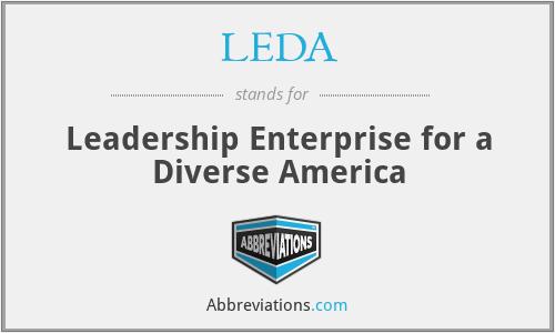 LEDA - Leadership Enterprise for a Diverse America