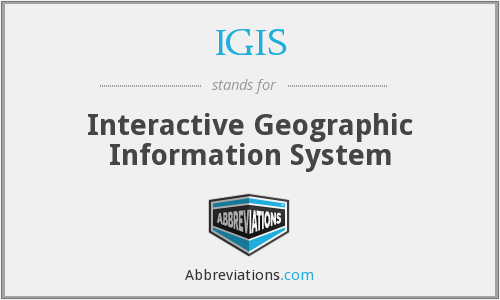 IGIS - Interactive Geographic Information System