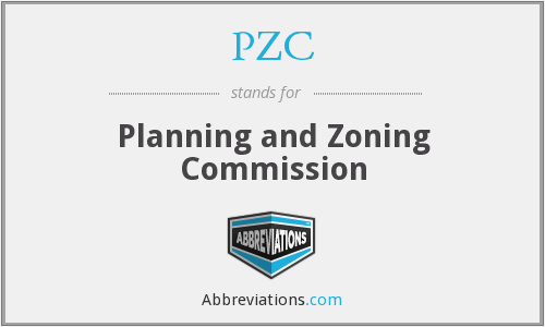 PZC - Planning and Zoning Commission