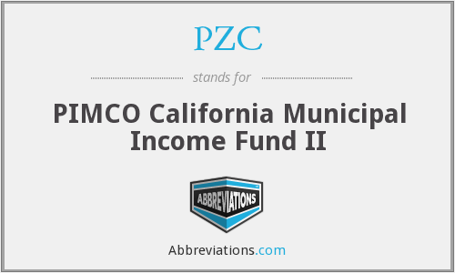 PZC - PIMCO California Municipal Income Fund II