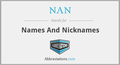 NAN - Names And Nicknames