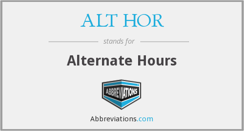 What does ALT HOR stand for?