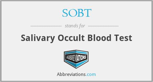 SOBT - Salivary Occult Blood Test