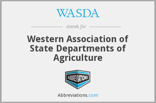 WASDA - Western Association of State Departments of Agriculture