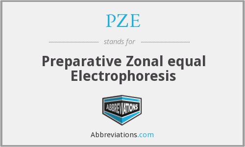PZE - Preparative Zonal equal Electrophoresis